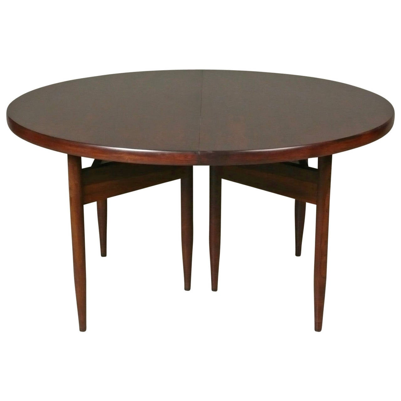 Danish Rosewood Dining Table With Two Leaves At 1stdibs