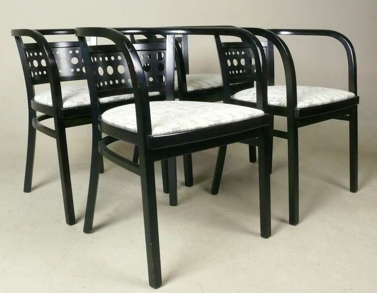 Set Of 4 Arm Chairs In The Manner Of Otto Wagner At 1stdibs