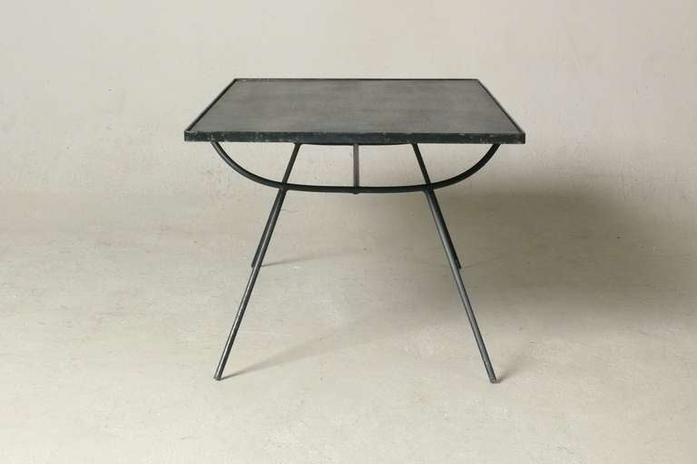 George Nelson Iron And Slate Coffee Table For Arbuck At 1stdibs