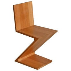 Zig Zag Chair in Cherry by Gerrit Rietveld