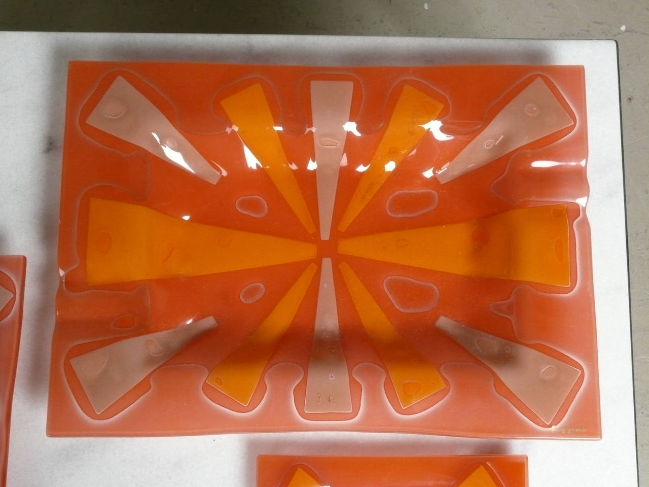 4 1960s Art Glass Ashtrays By Higgins Glass At 1stdibs