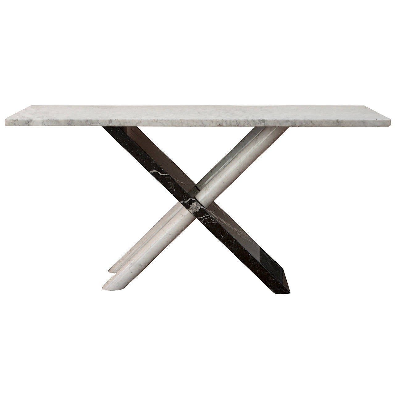 Italian marble console table, 1970s