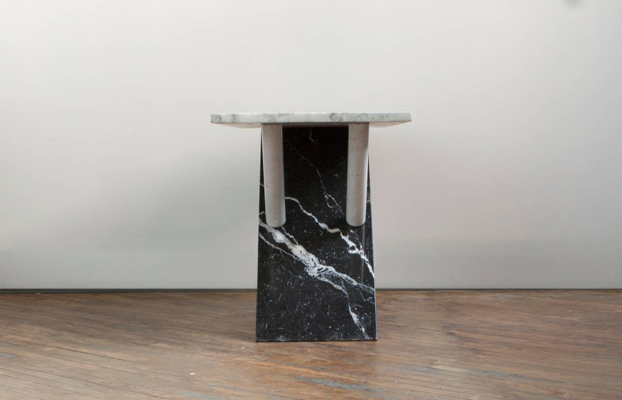 Italian Marble Console Table In Good Condition For Sale In Brooklyn, NY