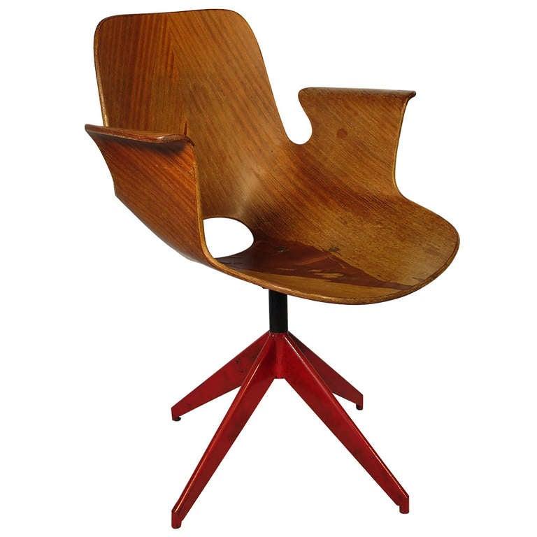 Medea Desk Chair by Vittorio Nobili 1