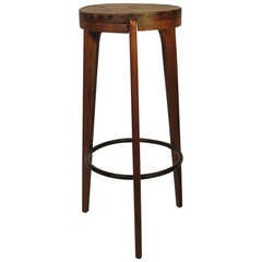 French Bar Stool Attributed to Pierre Jeanneret