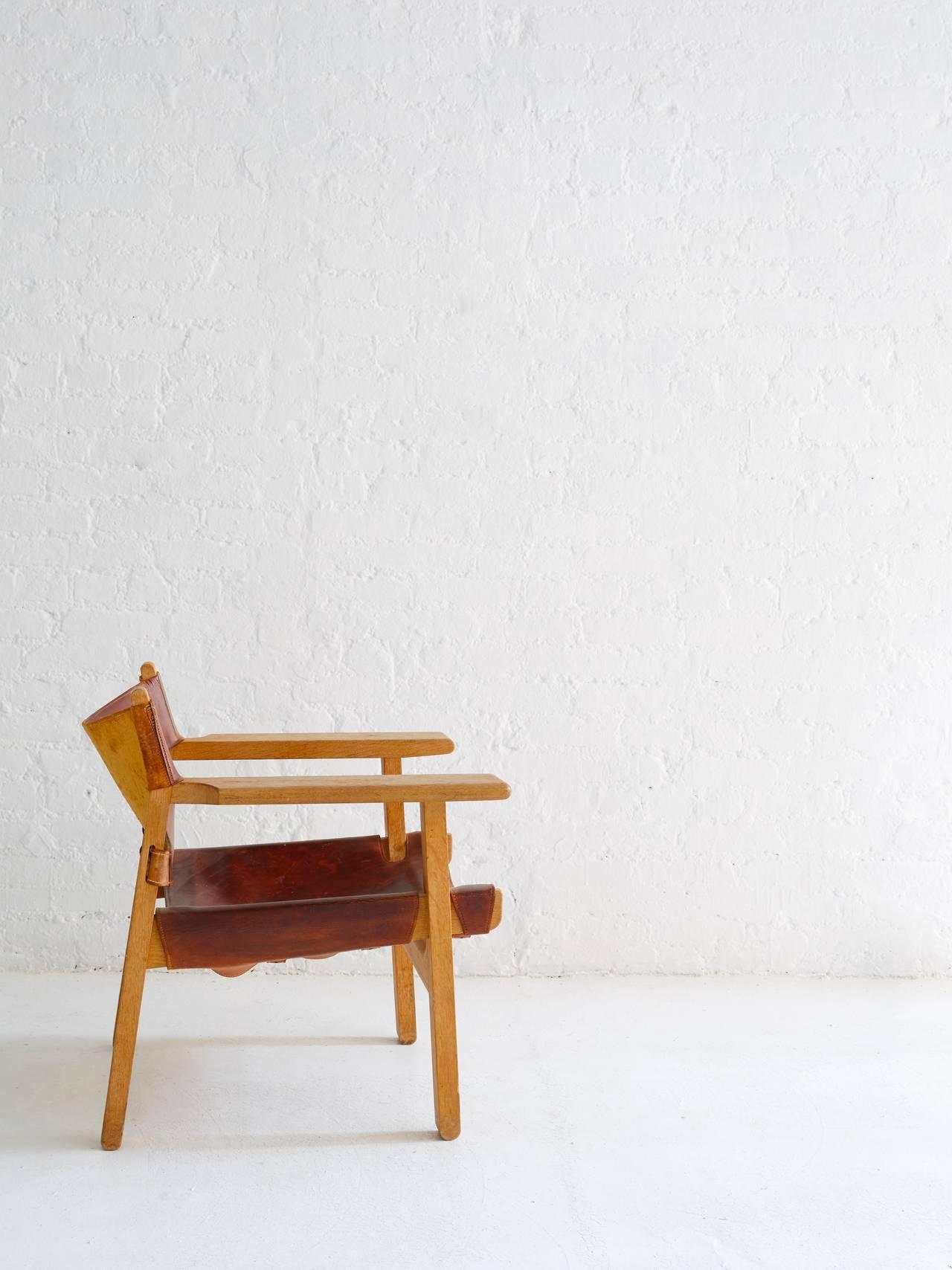Danish Borge Mogensen Spanish Chair For Sale