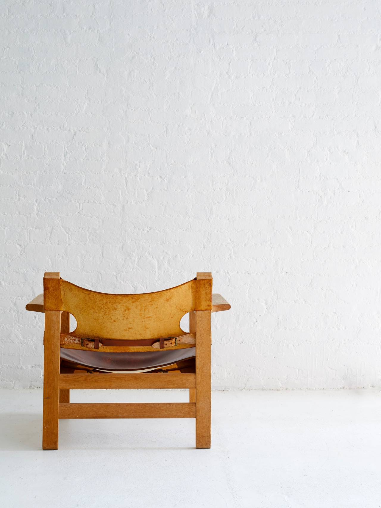 Borge Mogensen Spanish Chair In Excellent Condition For Sale In Brooklyn, NY