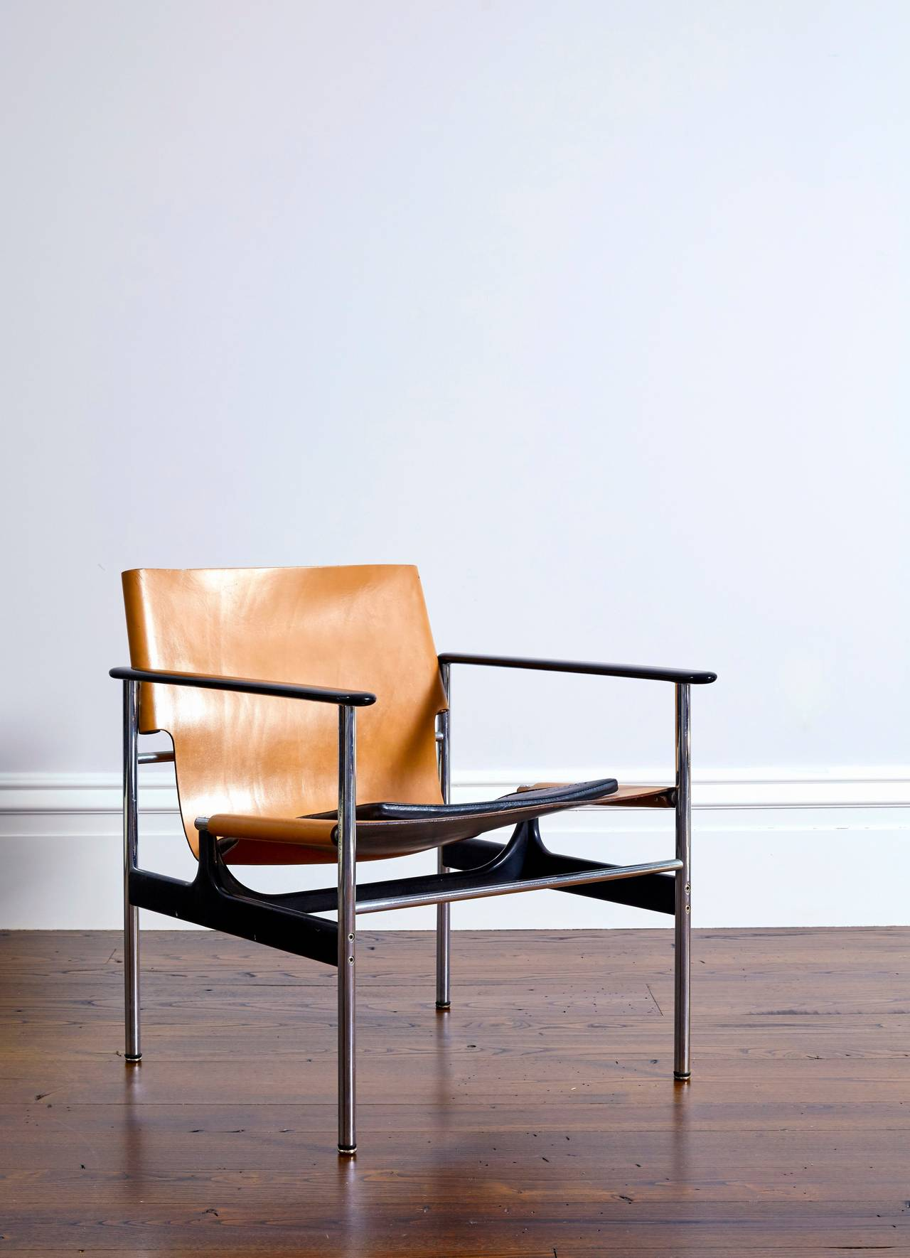 Pollock for Knoll 657 Leather Sling Armchair at 1stdibs