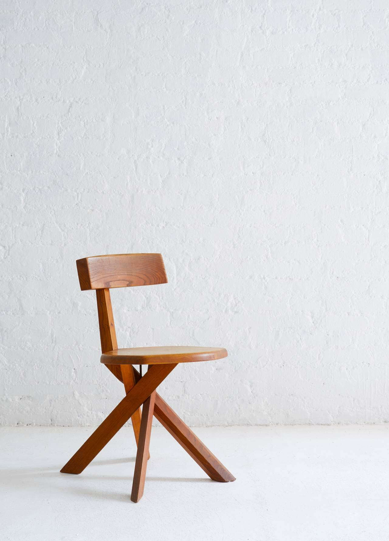 Mid-Century Modern S34 Model Chair by Pierre Chapo For Sale