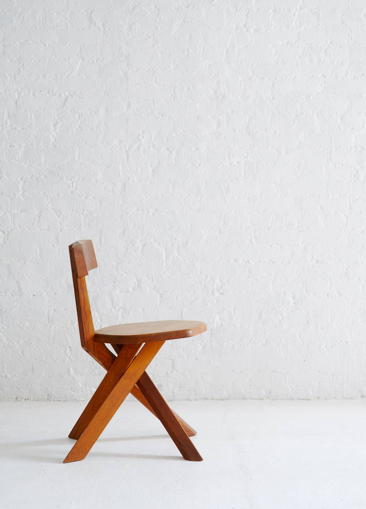 French S34 Model Chair by Pierre Chapo For Sale