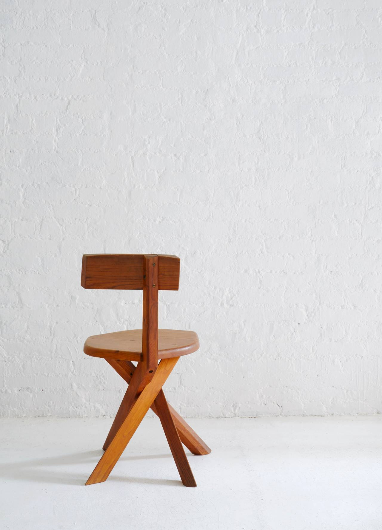 S34 Model Chair by Pierre Chapo In Excellent Condition For Sale In Brooklyn, NY