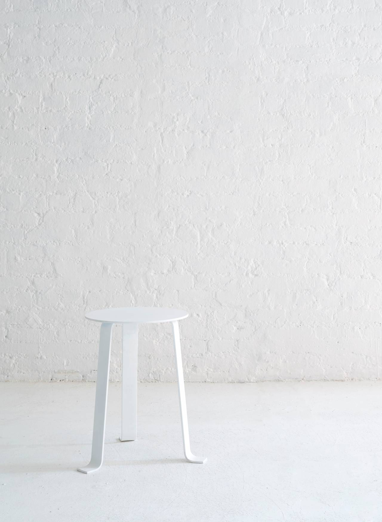 Minimalist Steel Tripod Stool For Sale