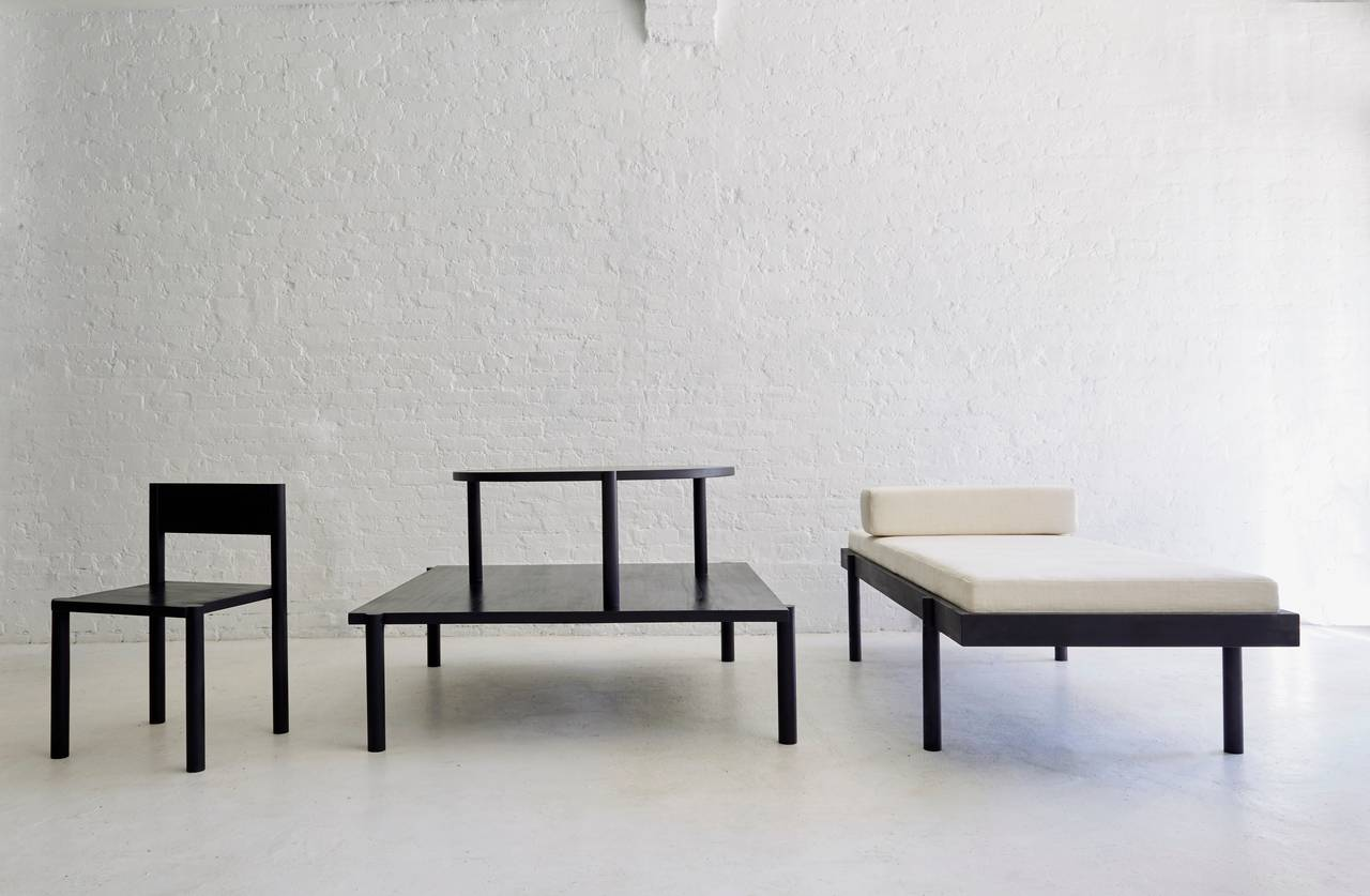 WC2 Daybed by ASH NYC in Black Oak  2