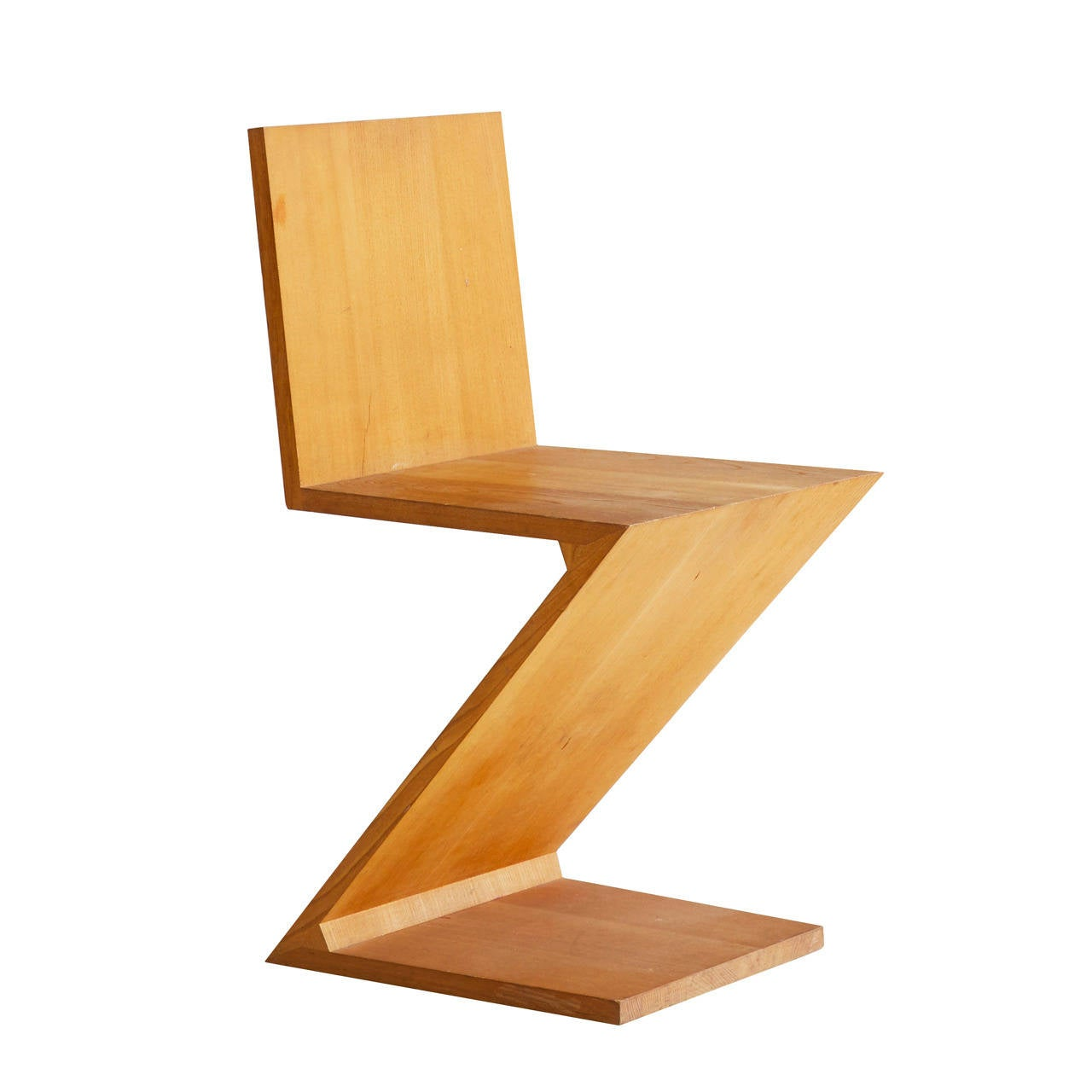 gerrit rietveld zig zag chair at 1stdibs. Black Bedroom Furniture Sets. Home Design Ideas