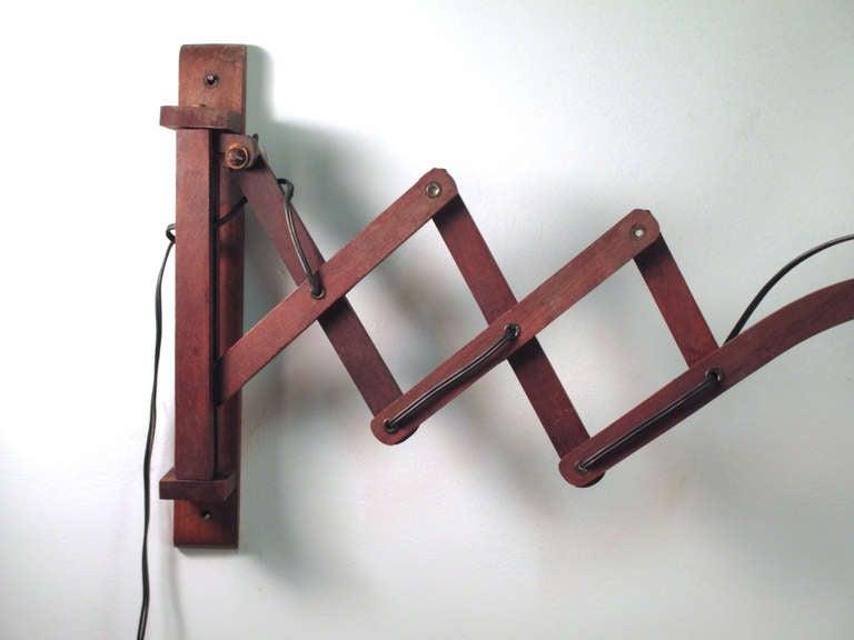 Wall Mount Accordion Lamp : Wooden Accordion Wall Lamp at 1stdibs