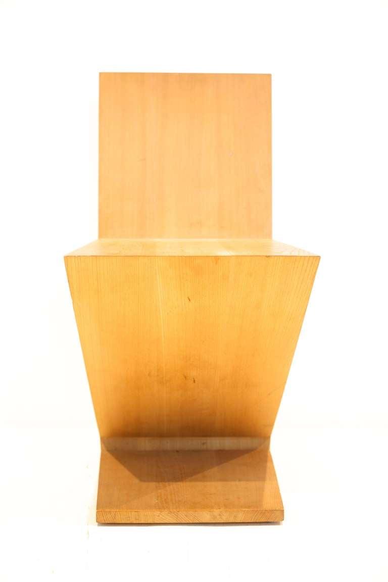 Italian Gerrit Rietveld Zig-Zag Chair