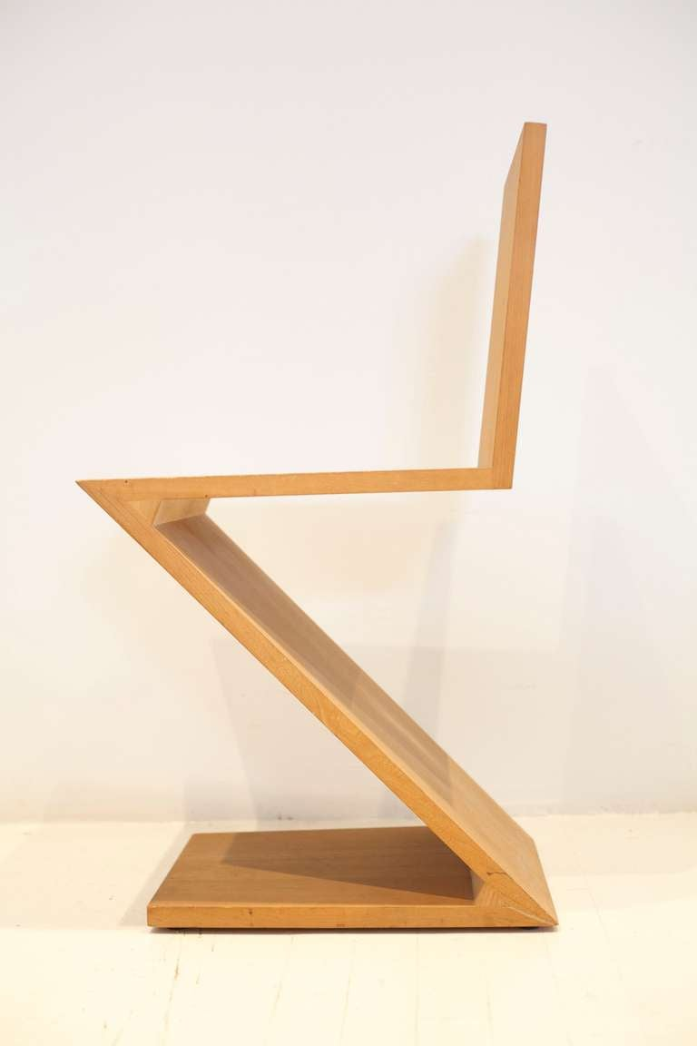 Gerrit rietveld chair for sale - Gerrit Rietveld Zig Zag Chair 3