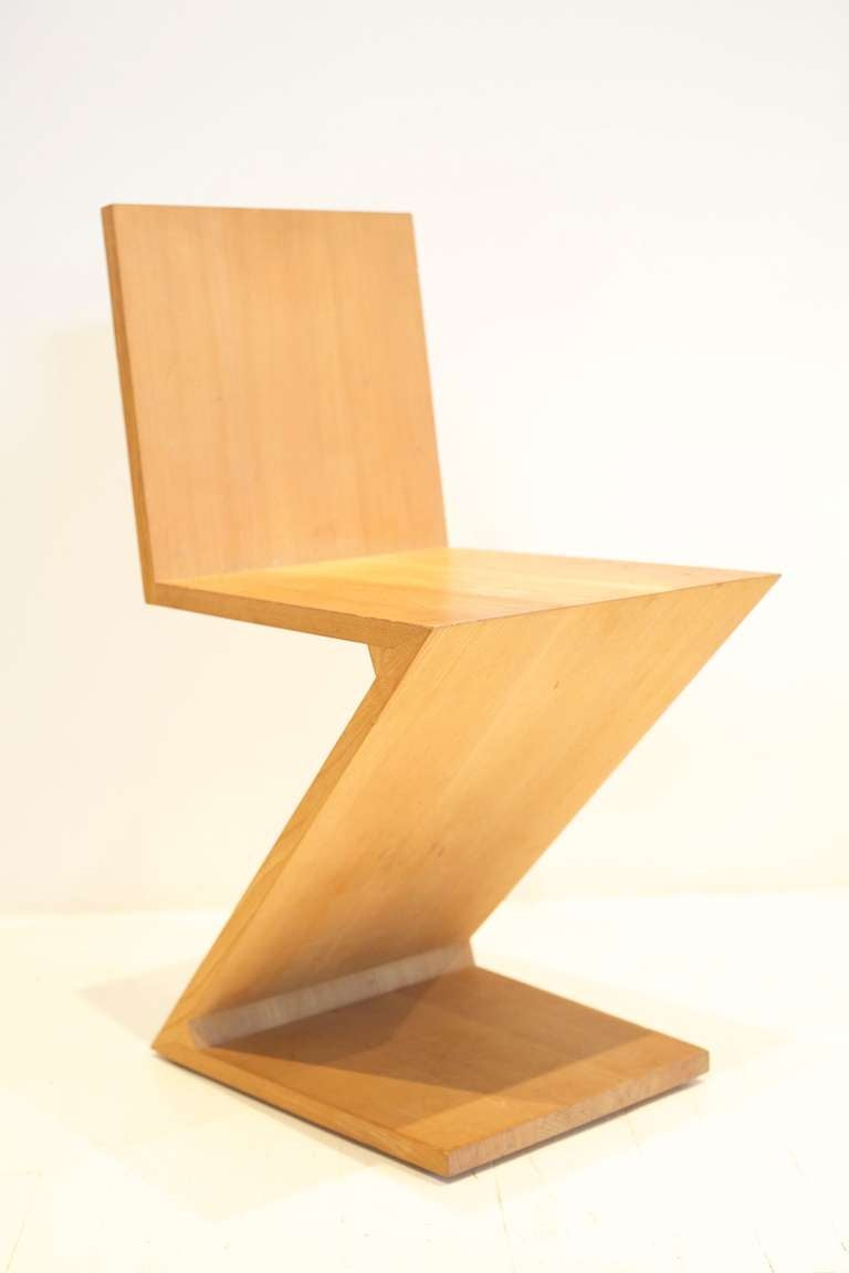 Gerrit Rietveld Zig Zag Chair For Sale at 1stdibs