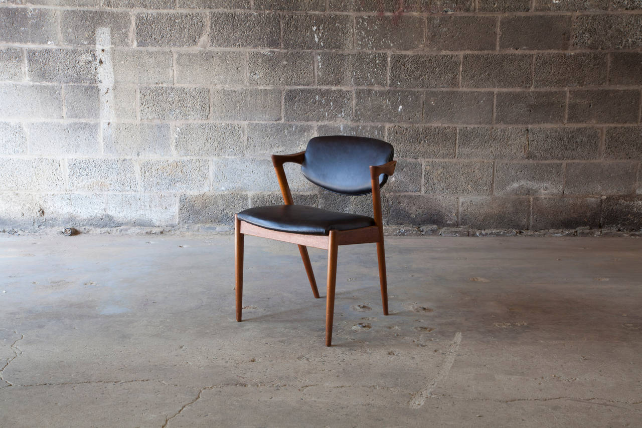 One of Kristiansen's best known creations, chair #42 is an fine example of a clean and comfortable Danish design.