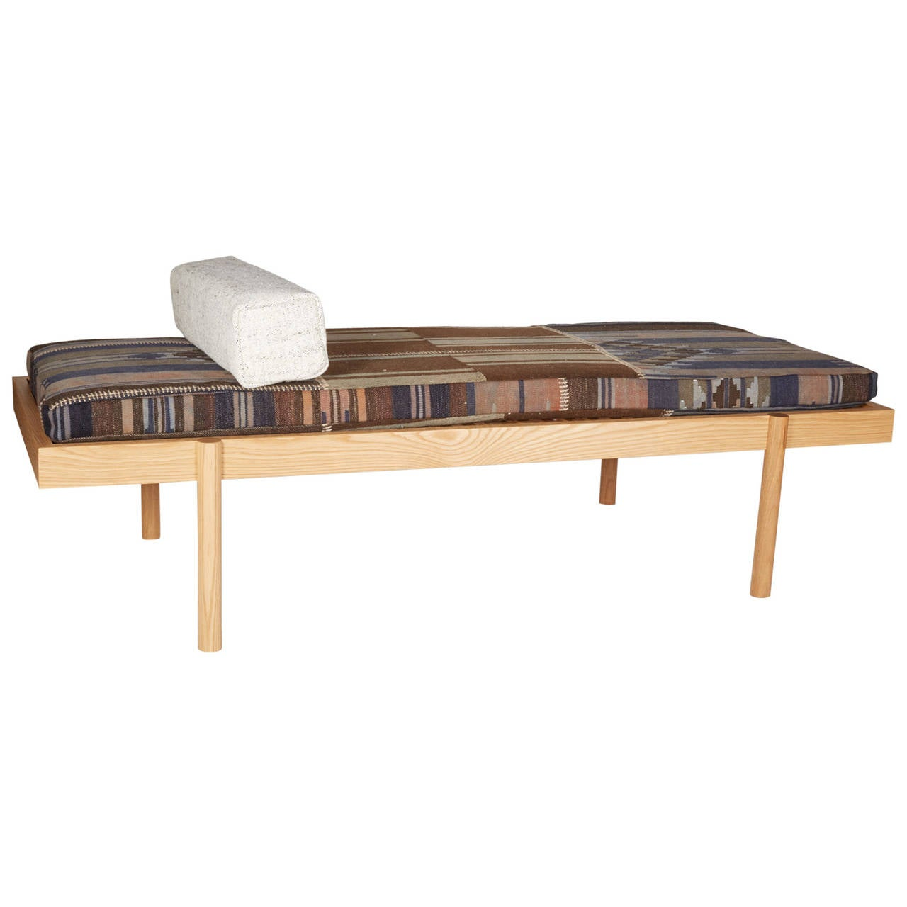 WC2 Daybed by ASH NYC with Limited Woven Accents Kilim Upholstery, Four of Five For Sale