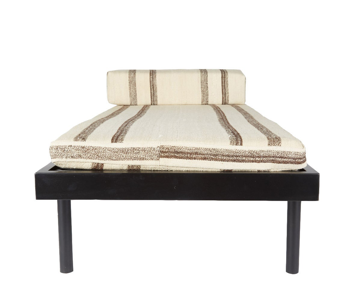 WC2 Daybed by ASH NYC with Limited Woven Accents Kilim Upholstery, One of Five In Excellent Condition For Sale In Brooklyn, NY