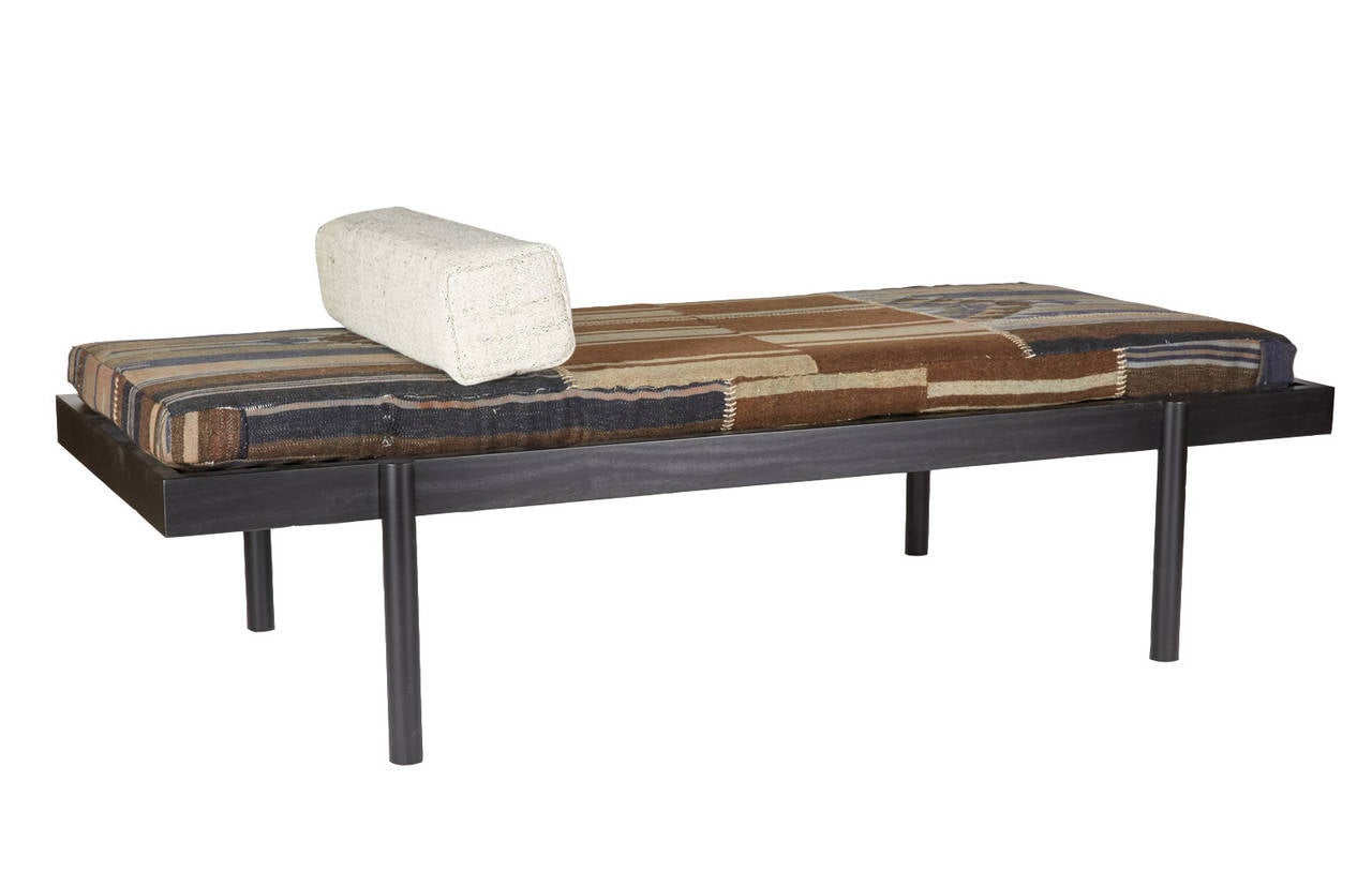 The WC2 daybed is a simplistic and elegant piece, its design is inspired by French designers like Charlotte Perriand and Jean Prouvé of the 1950s era. The bed's hand-turned legs join seamlessly with the frame to create a graceful handcrafted joint.