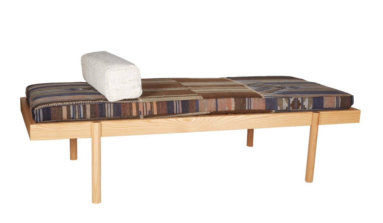 Contemporary WC2 Daybed by ASH NYC with Limited Woven Accents Kilim Upholstery, Four of Five For Sale