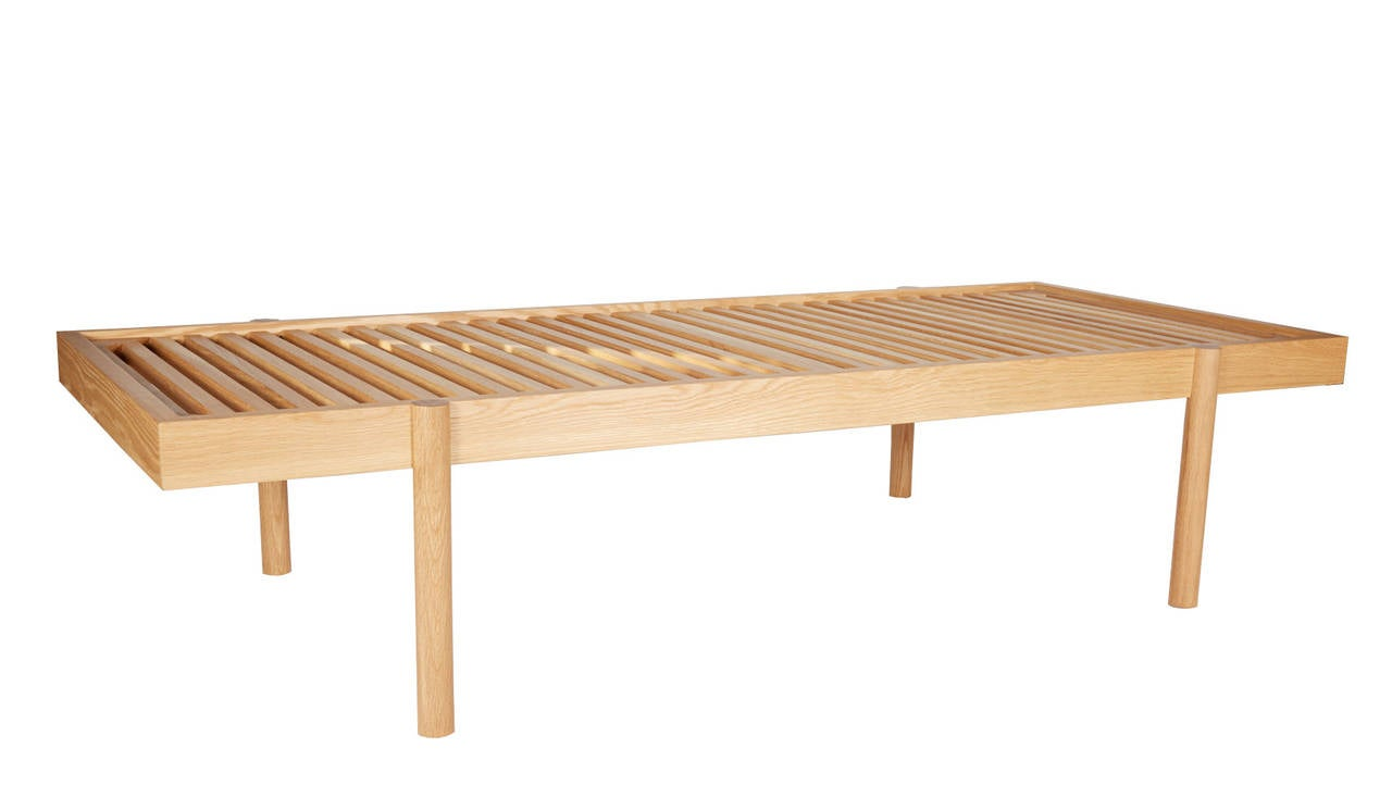Lacquered WC2 Daybed by ASH NYC with Limited Woven Accents Kilim Upholstery, One of Five For Sale
