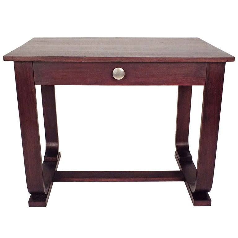 1960s deco style writing table at 1stdibs