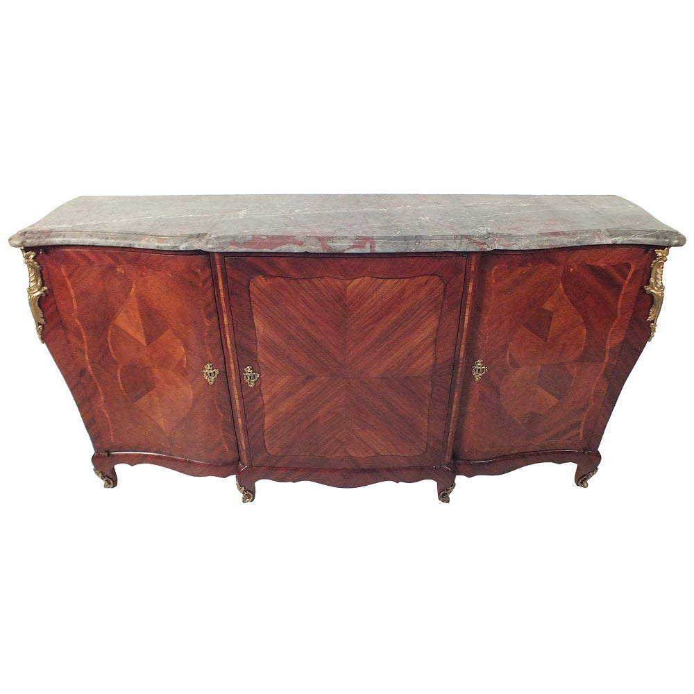 French Antique Louis XV Style Marble-Top Buffet/Credenza at 16stdibs
