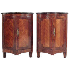 Pair of 19th Century French Louis XVI-Style Corner Cabinets