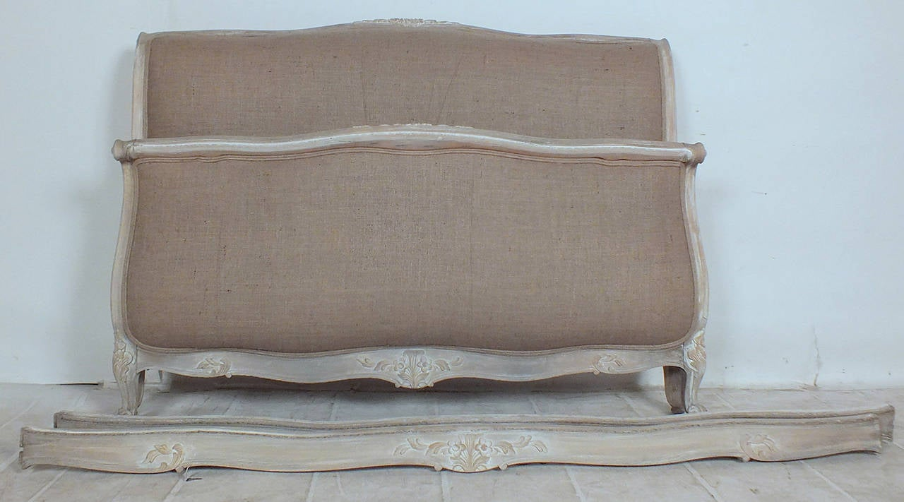 Early 20th Century Louis Xv Style French Full Size Bed