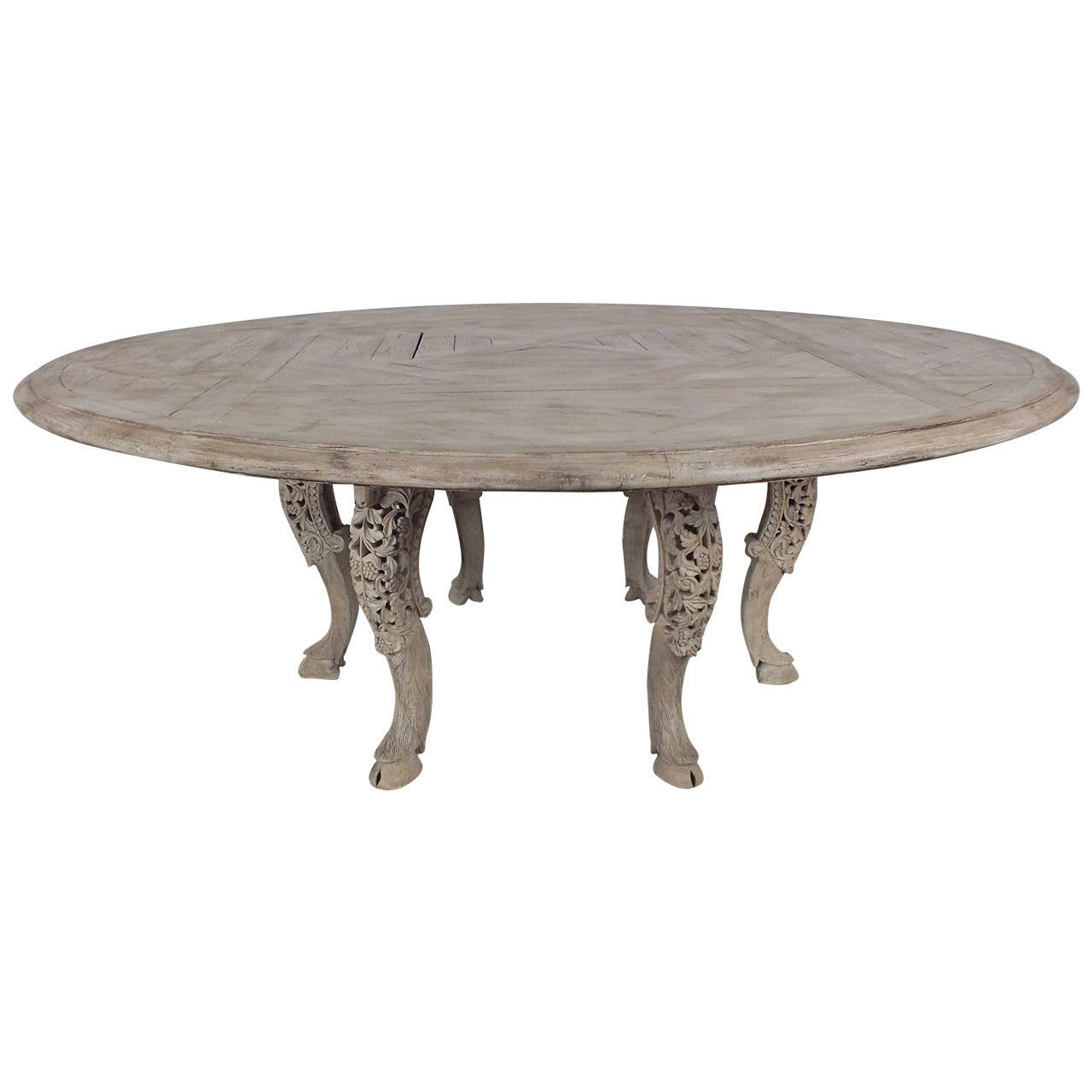 Beautiful 1960s parquet top round dining table at 1stdibs for Beautiful round dining tables