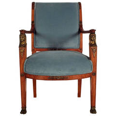 French Late 19th Century Office Armchair in Empire-Style
