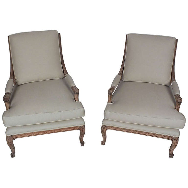 Pair Of 1930s Louis Xvi Style Open Armchairs At 1stdibs