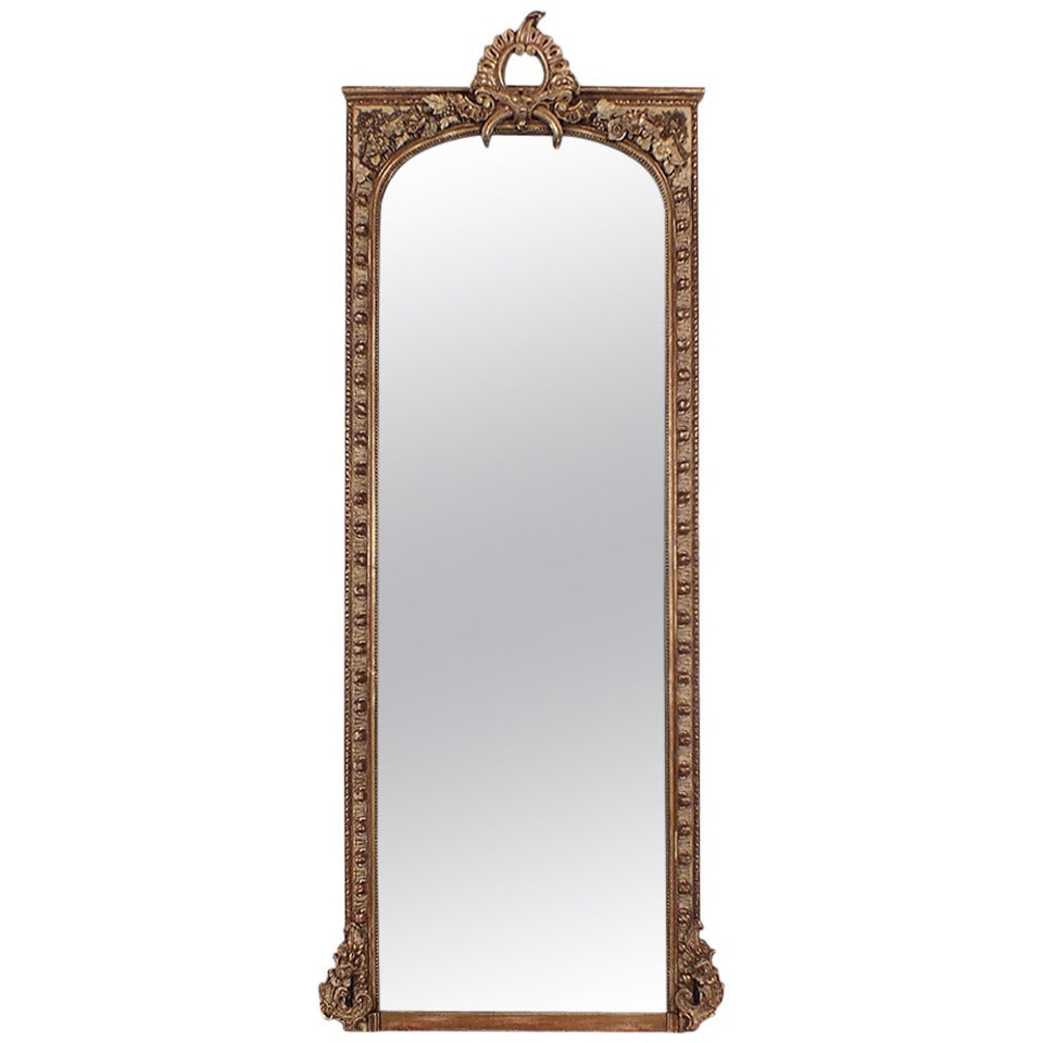 Arched gilt mirror at 1stdibs - Large 19th Century French Louis Xvi Style Mirror 1