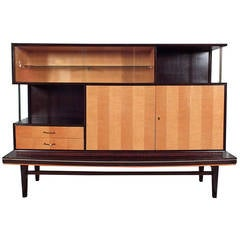 Mid-Century Display Cabinet with Stand