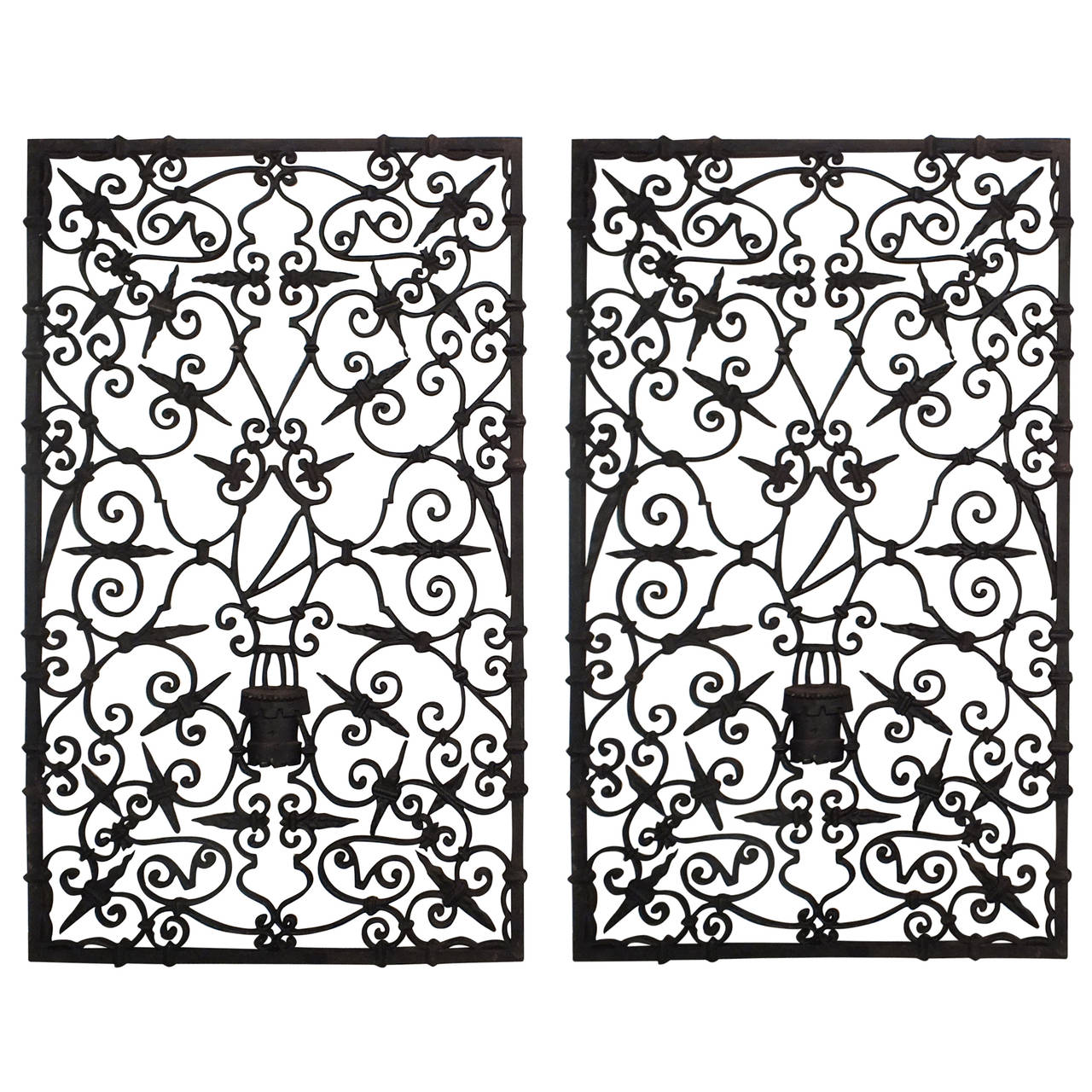 Pair Of 1930s Cast Iron Wall Decor Plaques Or Doors At 1stdibs