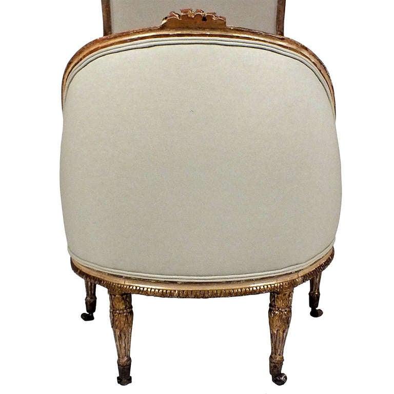 19th century louis xvi style giltwood gondola form french. Black Bedroom Furniture Sets. Home Design Ideas