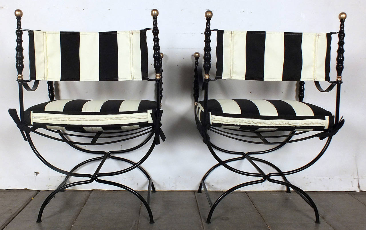 Set Of 6 Mid-Century Hollywood Regency-Style Dining/Patio