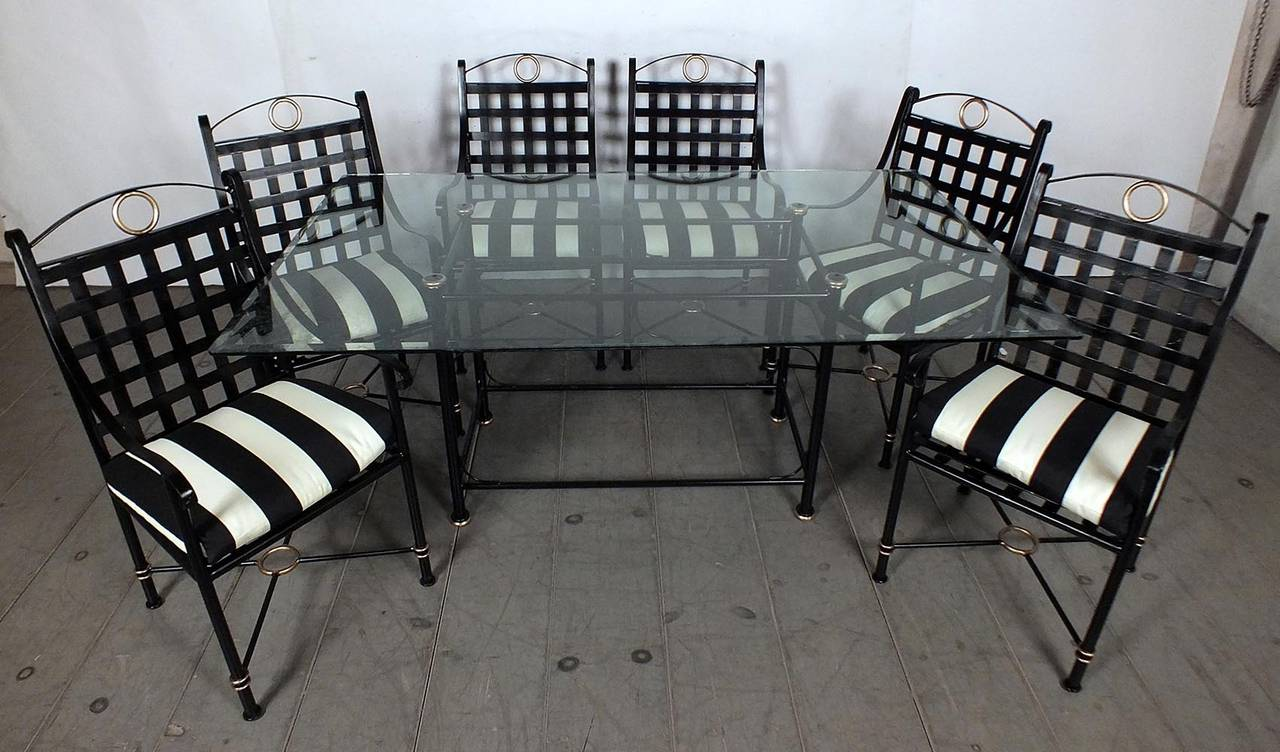 Vintage 1970s seven piece patio dining set continental for 1970 dining room set