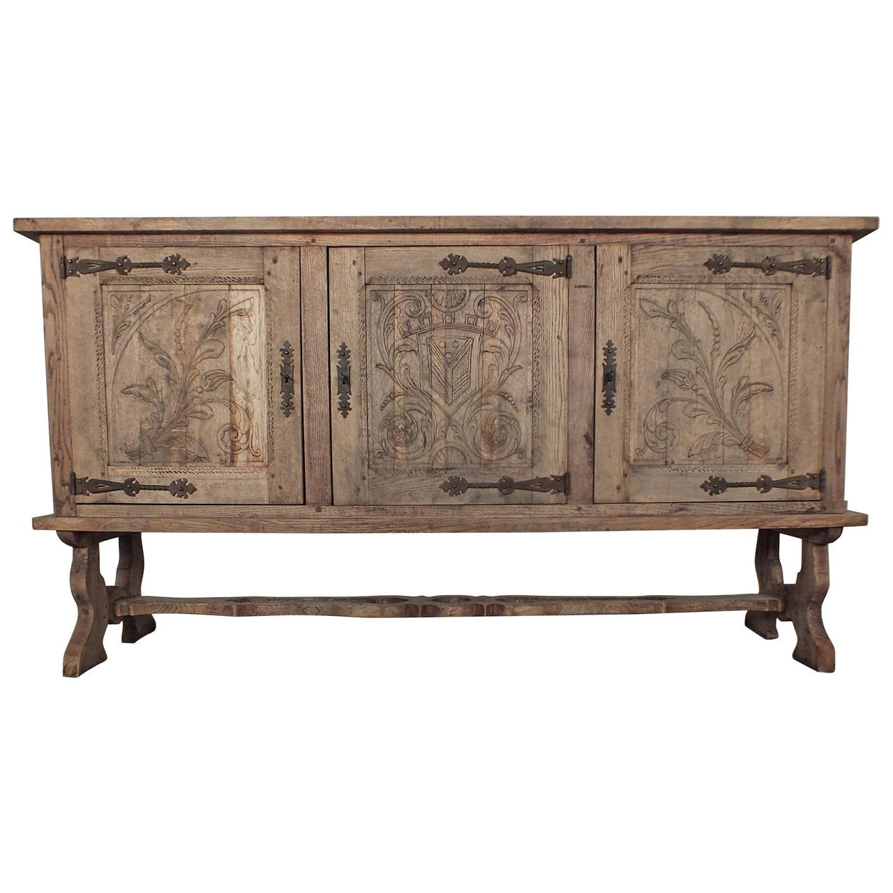 French 19th Century Colonial Baroque Style Sideboard or Buffet at ...
