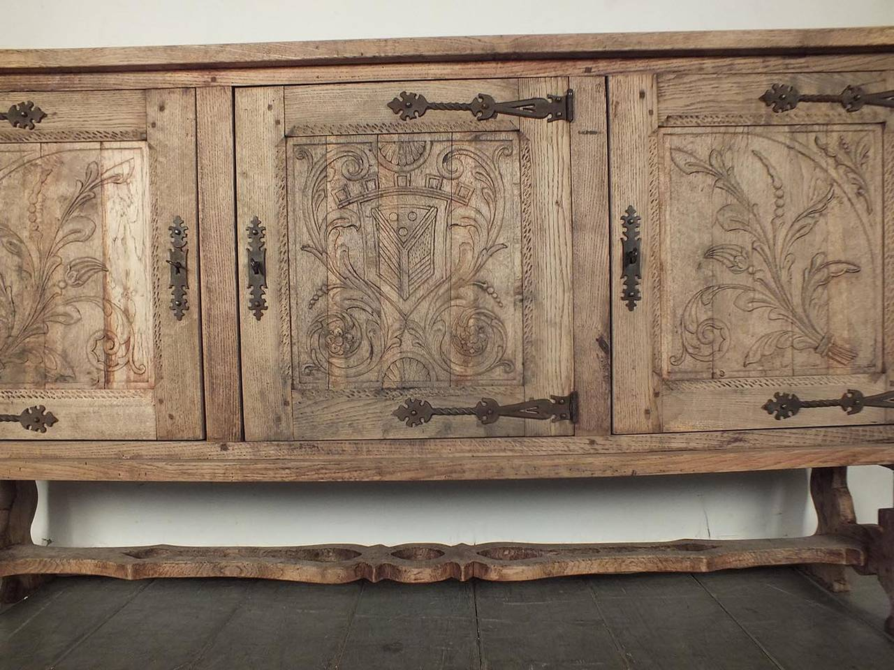 French 19th Century Colonial Baroque Style Sideboard or Buffet image 2