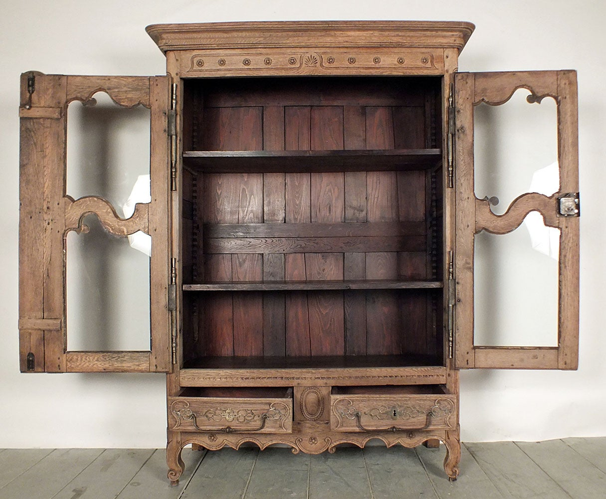 Louis Philippe Open Bookcase: 18th French Century Louis XV Bookcase At 1stdibs