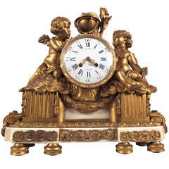 19th Century, French Bronze Mantle Clock