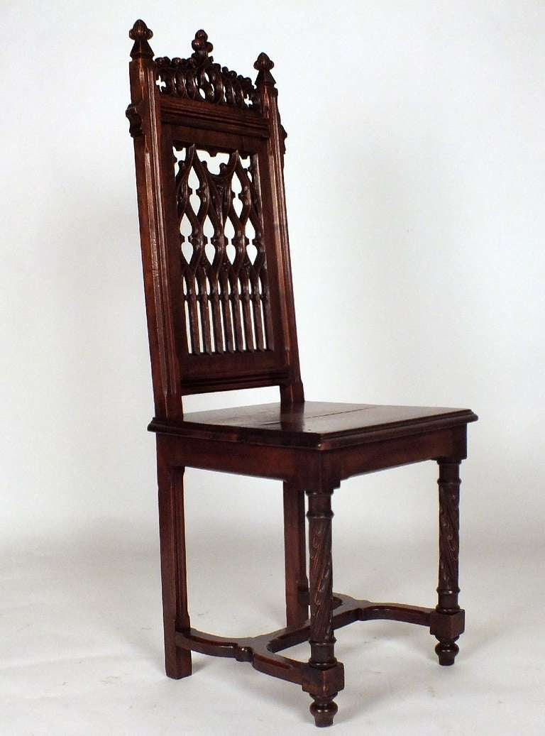 Antique 1900 S Gothic Style Dining Chairs At 1stdibs