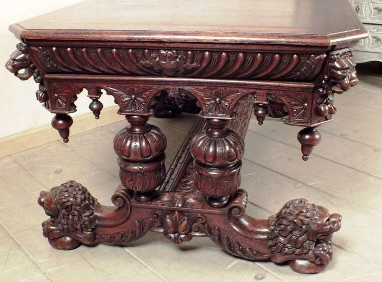 Gorgeous Renaissance Style Dining Table At 1stdibs
