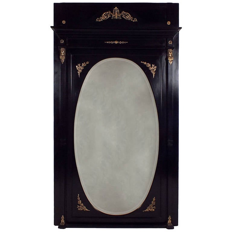 Antique french empire style mirror at 1stdibs for Antique looking wall mirrors