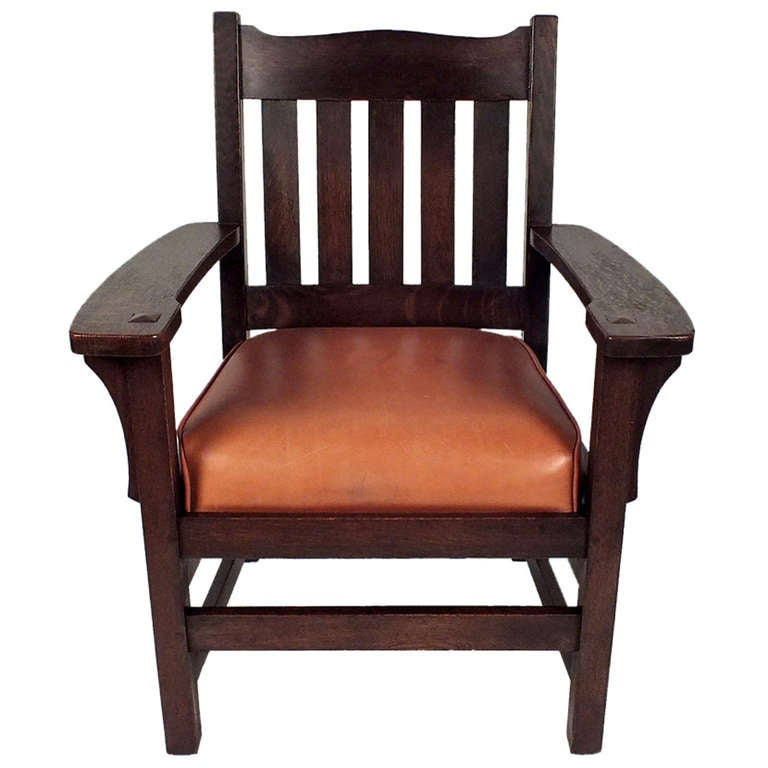 1910 S Arts And Crafts Style Stickley Era Armchair At 1stdibs