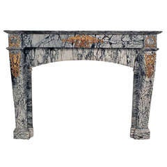 19th Century Empire Style Marble Fireplace
